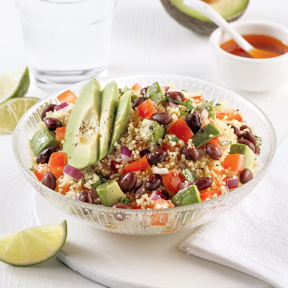Salade de couscous style tacos
