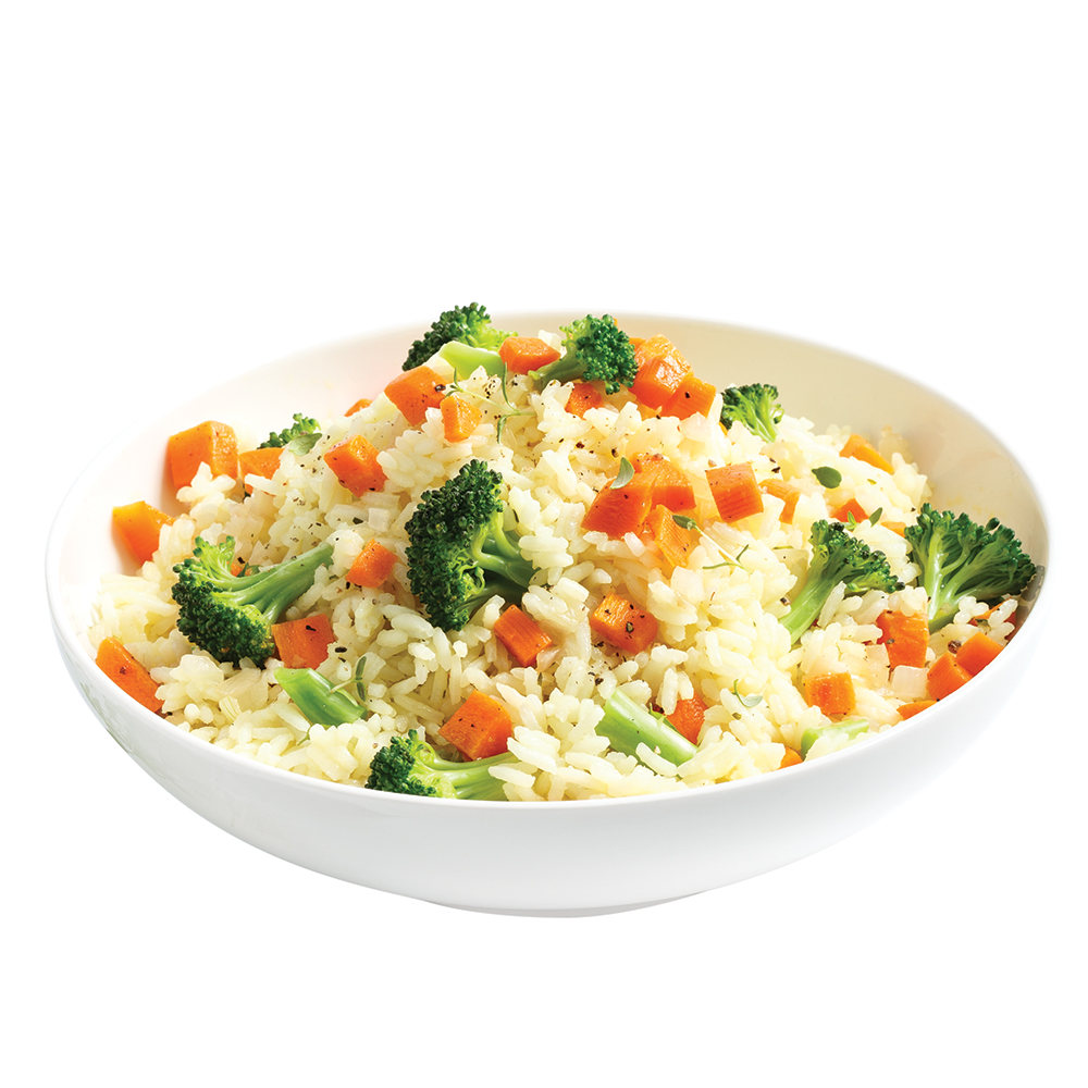 Riz pilaf carottes et brocoli