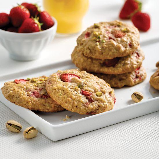 Biscuits aux fraises et pistaches