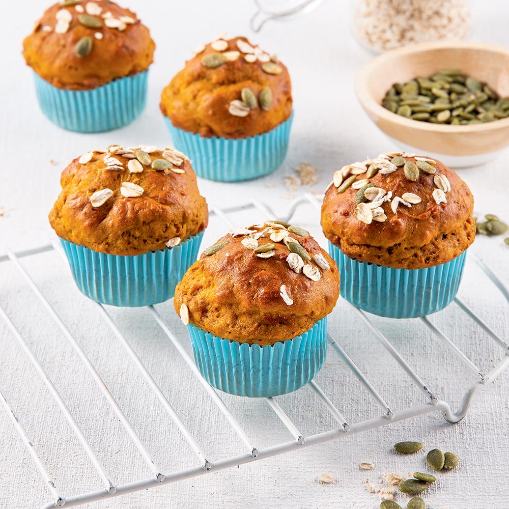 Muffins à la citrouille et tartinade au chocolat