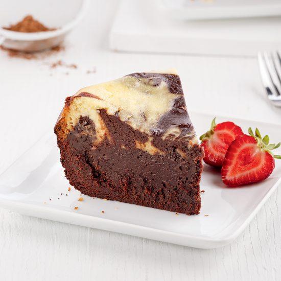 Gâteau-brownie au fromage à la crème à la mijoteuse