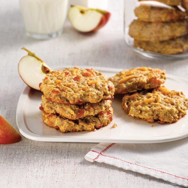 Biscuits aux pommes et cheddar