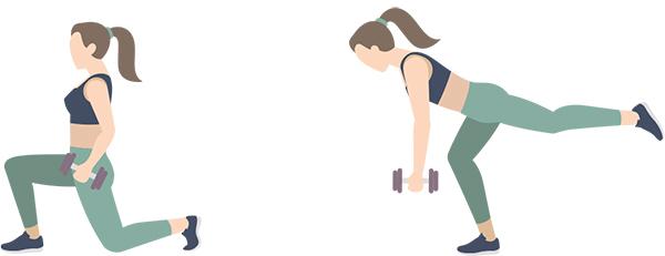 L'exercise payant du mois: La fente