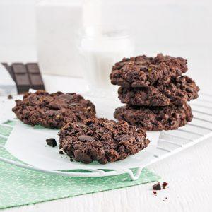 Biscuits décadents au chocolat et courgette
