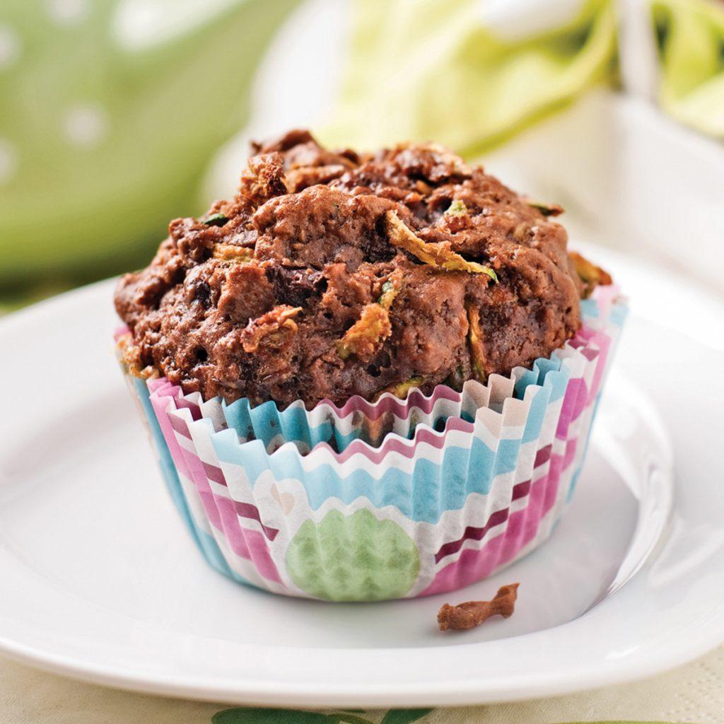 Muffins au chocolat et courgettes