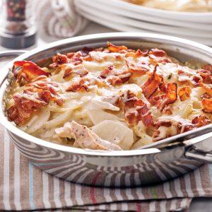 Gratin de poulet et pommes de terre