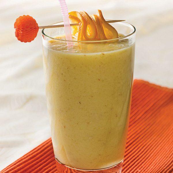 Smoothie déjeuner mangue et banane