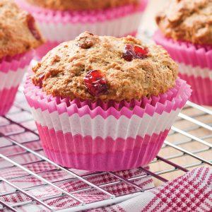 Muffins au son et aux canneberges séchées
