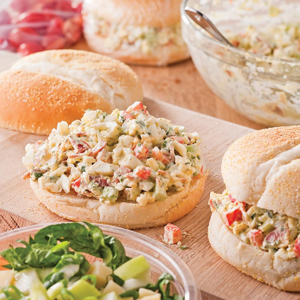 Kaiser aux oeufs et pancetta croustillante