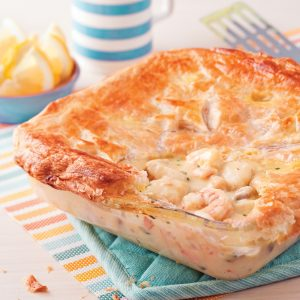 Pâté feuilleté aux crevettes et pangasius