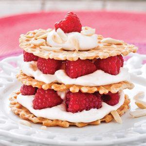 Shortcakes croustillants aux framboises et crème d'érable