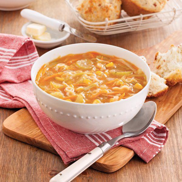 Soupe vite faite aux légumes