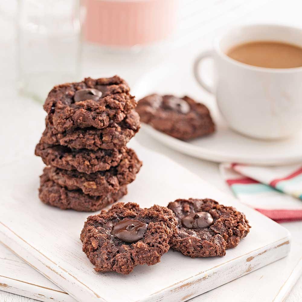 Biscuits meringués au chocolat et amandes