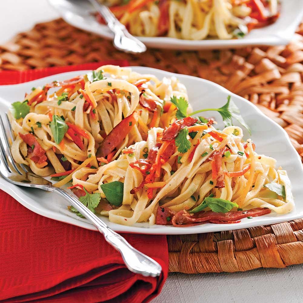Linguines frais, pesto aux tomates séchées