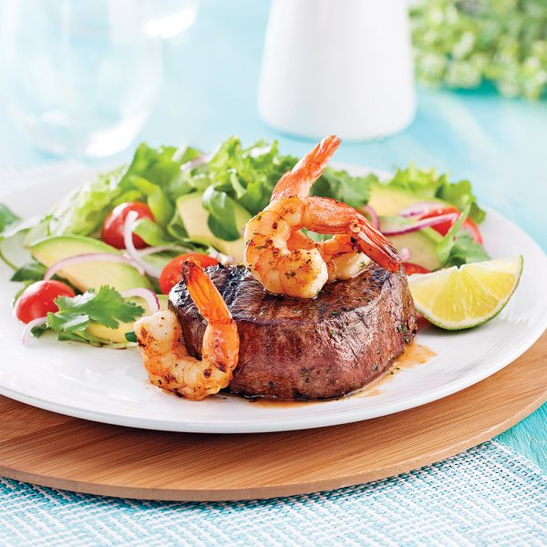 Surf and turf sur le gril