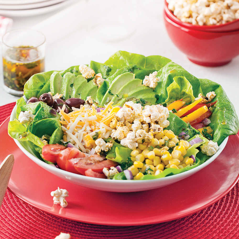 Salade tex-mex au popcorn