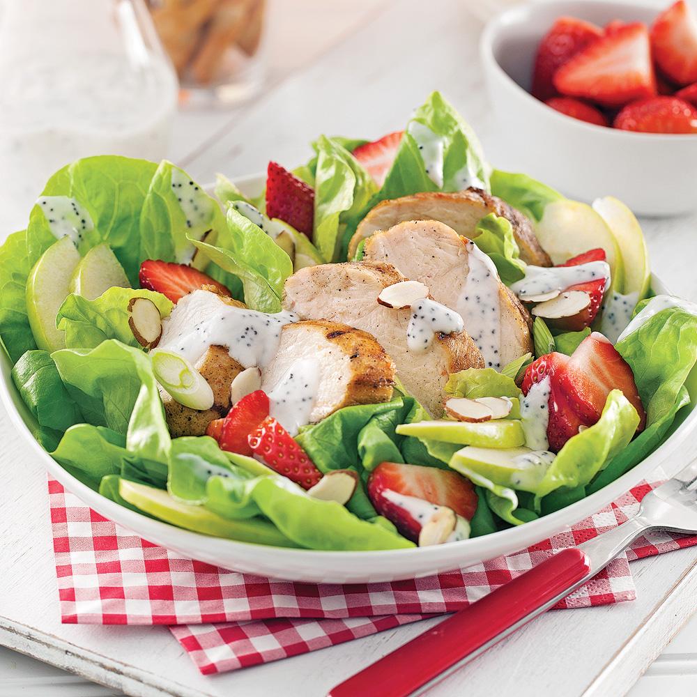Salade estivale au poulet grillé