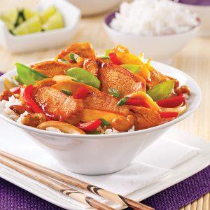 Sauté de poulet aigre-doux à la thaï