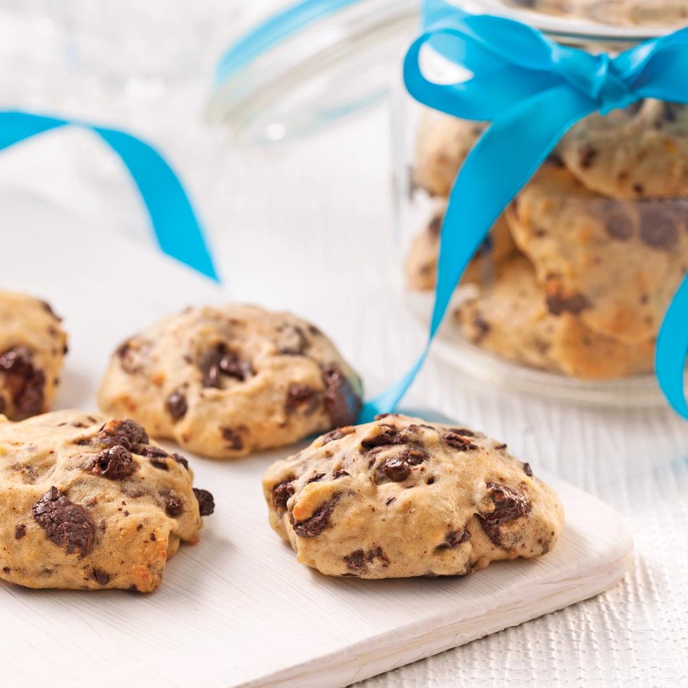 Biscuits moelleux au chocolat noir et à l'orange