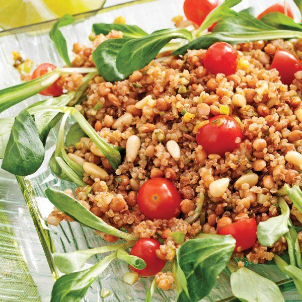 Salade de quinoa rôti à l'indienne