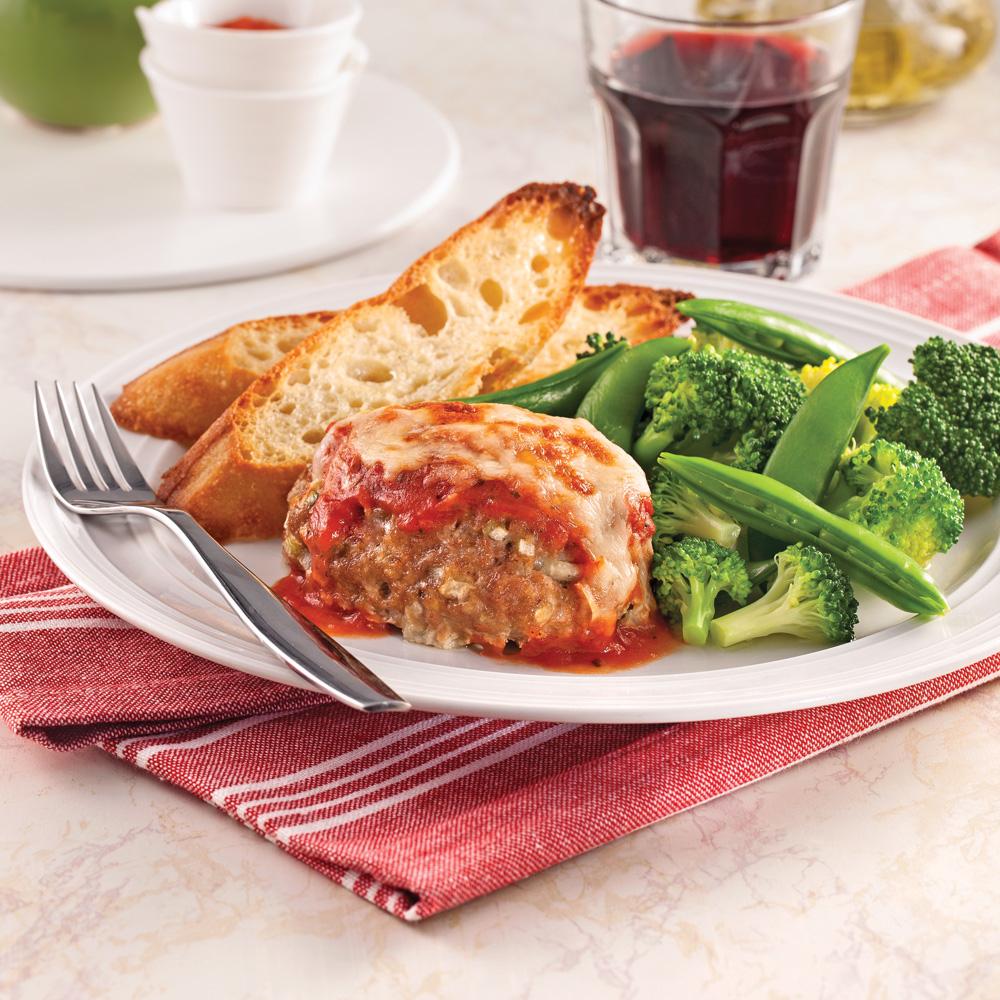 Mini-pains de viande parmigiana
