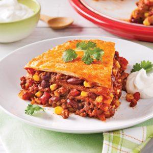 Lasagne mexicaine végétarienne