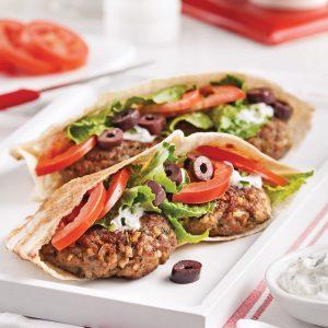 Pita burgers à la grecque