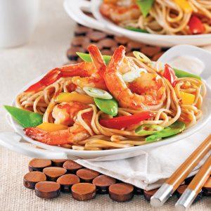 Crevettes Lo mein