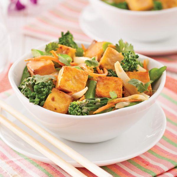 Tofu sauté à l'arachide