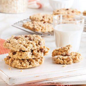 Biscuits moelleux au chocolat, avoine et noix