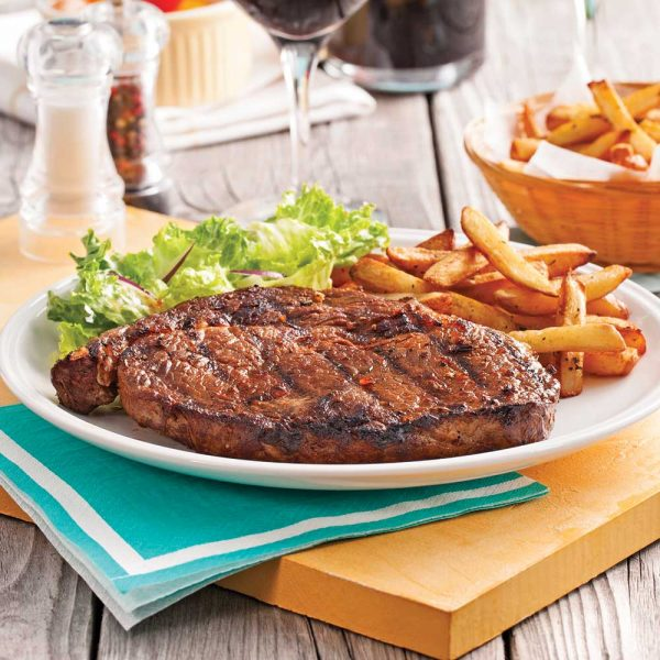 Steak frites sur le gril