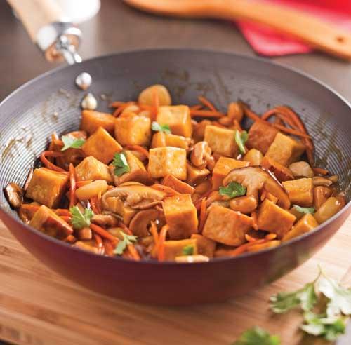 Sauté de tofu à l'orange et cajous