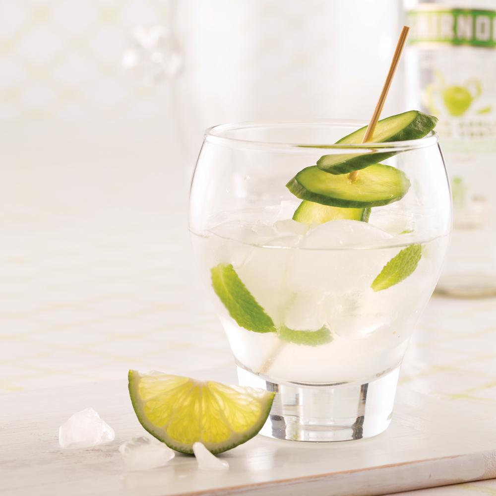 Cocktail menthe et pomme verte
