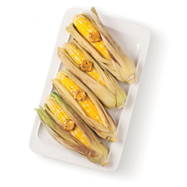 Maïs grillés en épis et beurre parfumé