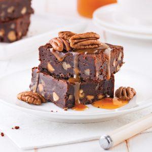 Brownies aux pacanes et caramel