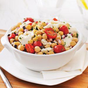 Salade de pois chiches à la méditerranéenne