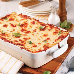Lasagne sauce bolognaise aux champignons