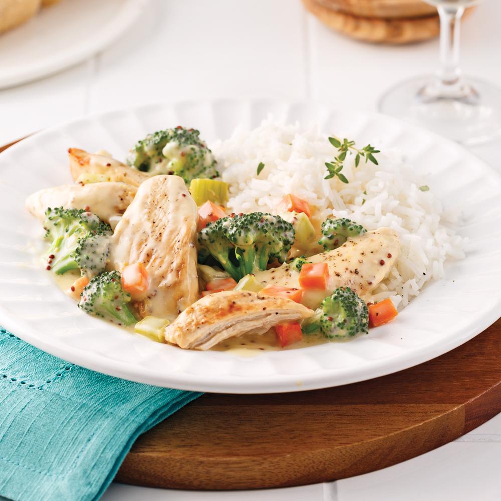 Casserole de poulet et brocoli pour sacs à congeler