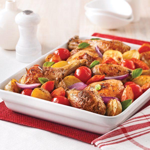Poulet aux légumes caramélisés