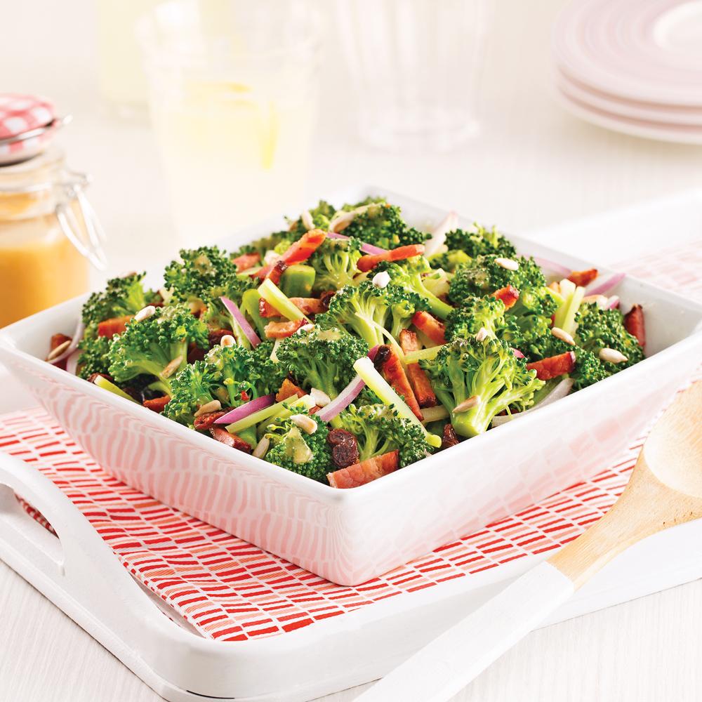 Salade de brocoli et bacon