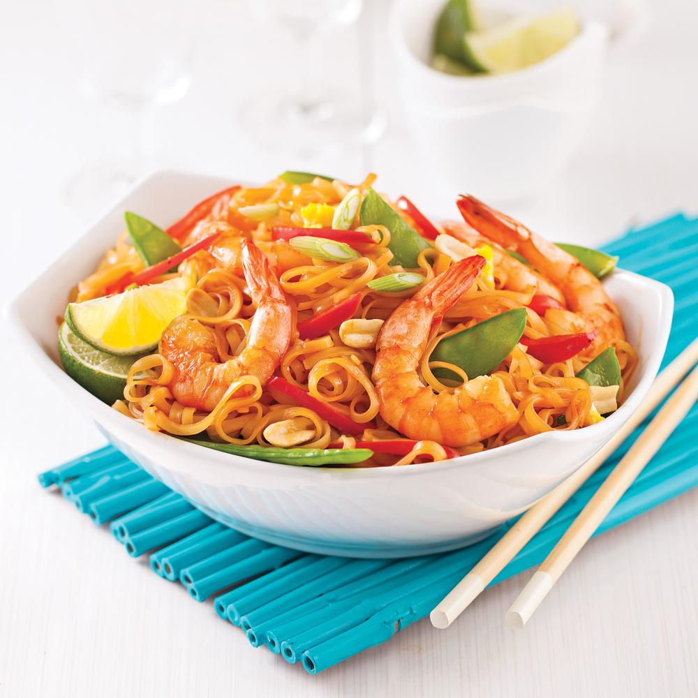 Pad thaï aux crevettes en 20 minutes