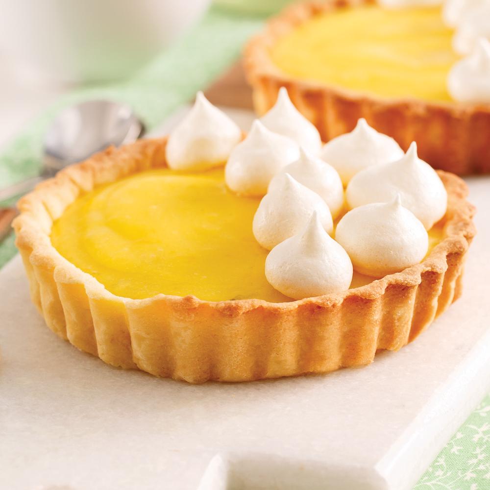 Tartelettes citron-lime et meringues croquantes