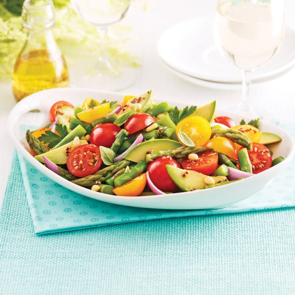 Salade d'asperges et tomates