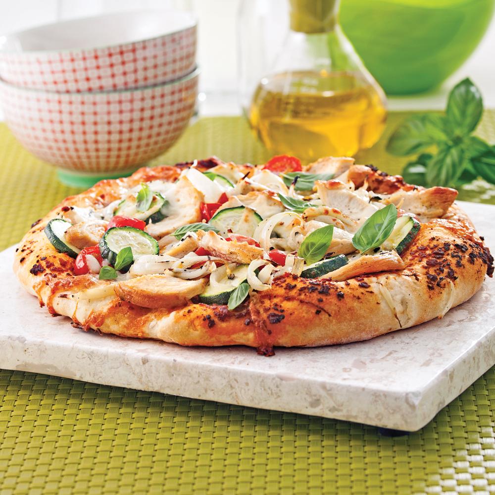 Pizza au poulet mariné à l'italienne