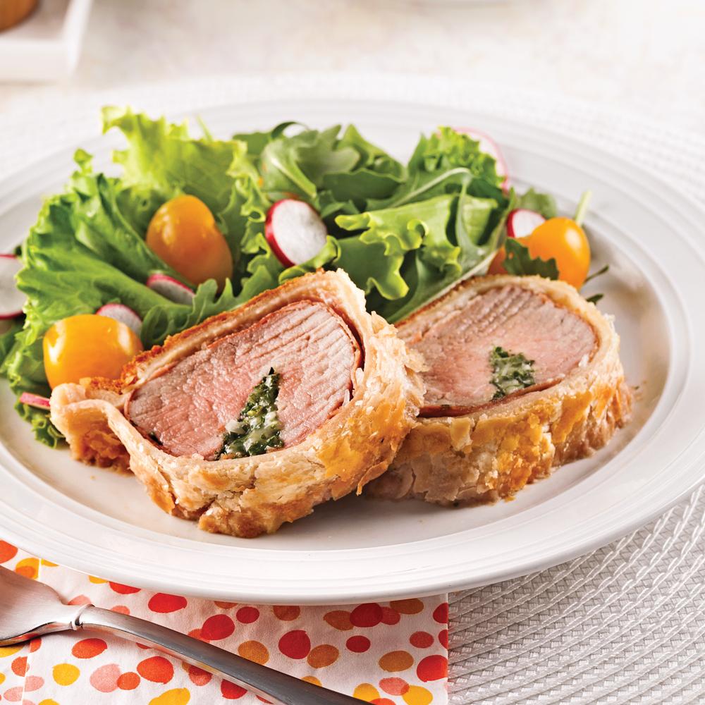 Filet de porc en croûte de pâte feuilletée