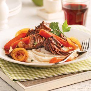 Rôti de palette de boeuf, sauce vinaigre balsamique et érable
