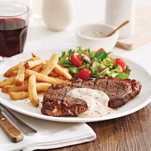Steak-frites, sauce dijonnaise