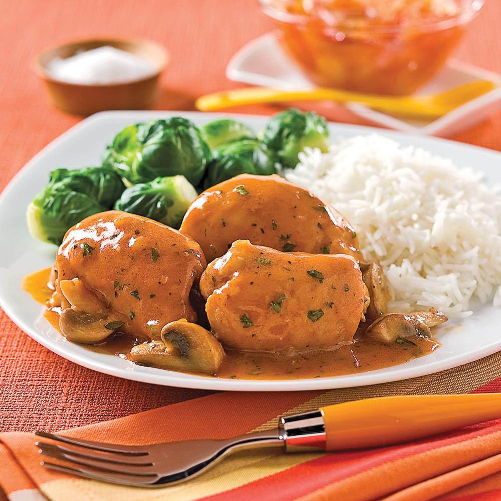 Hauts de cuisses, sauce chasseur aux champignons - Je Cuisine