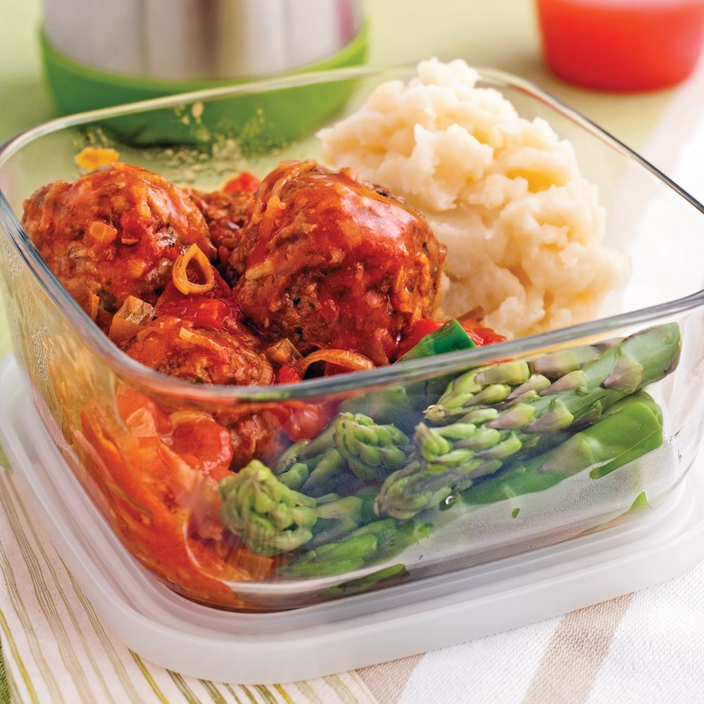 Boulettes de veau et porc, sauce à l'italienne