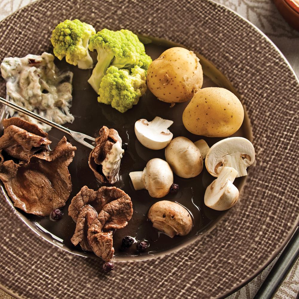 Bouillon pour fondue de gibier